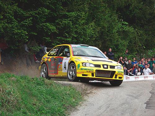 Stříbro zHorácké rally vyneslo Emila Trinera se Seatem Cordobou WRC ke čtvrtému místu vMMČR 2003