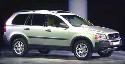 Nové Volvo XC90 bylo představeno ve světové premieře na autosalonu v Detroitu 7. ledna 2002