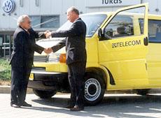 Jubilejní 10 000. užitkový Volkswagen převzal SPT Telecom