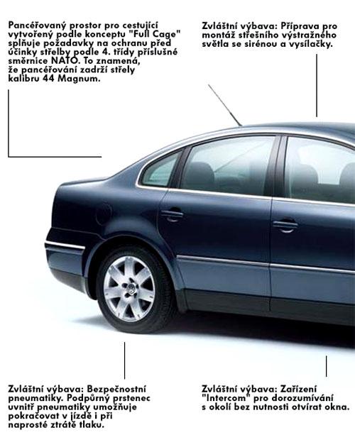 Pancéřovaný Volkswagen Passat Protect ve výrobě
