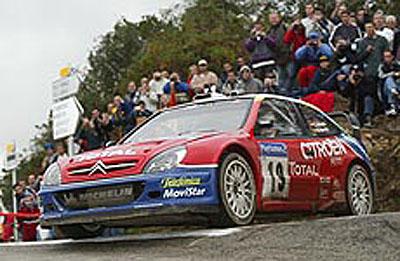 CitroënyXsara WRC vcelkovém hodnocení mistrovství světa 2003 na prvním místě